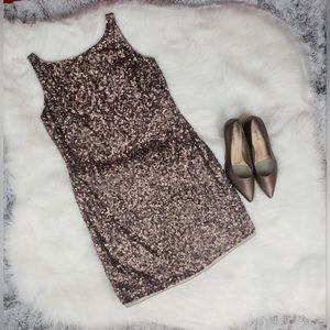 Dresses & Skirts - Adian Mattox Bronze sequined dress